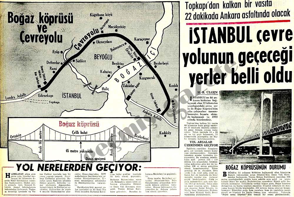 İstanbul çevre yolunun geçeceği yerler belli oldu