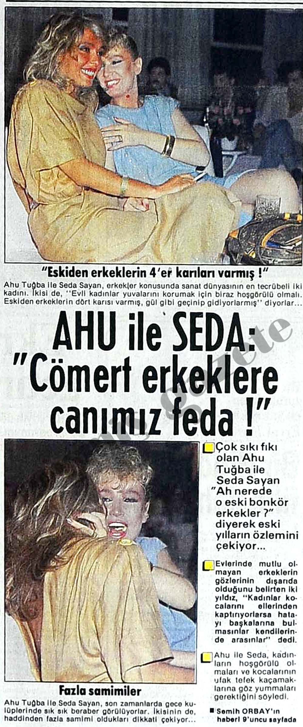 Ahu ile Seda