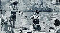 Avrupada deniz kıyafeti ile çay vermek moda halini aldı!..