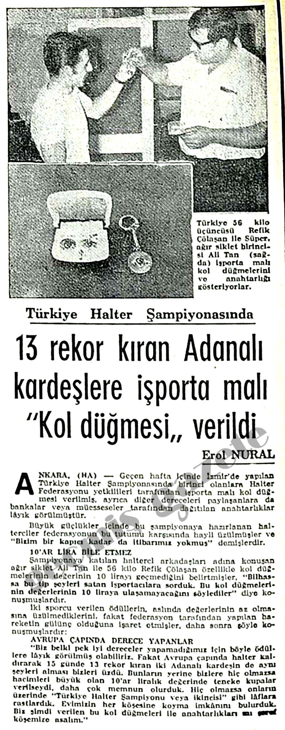 """13 rekor kıran Adanalı kardeşlere işporta malı """"Kol düğmesi"""" verildi"""