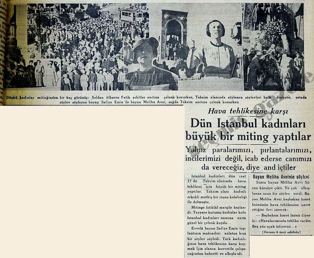 İstanbul kadınları büyük bir miting yaptılar