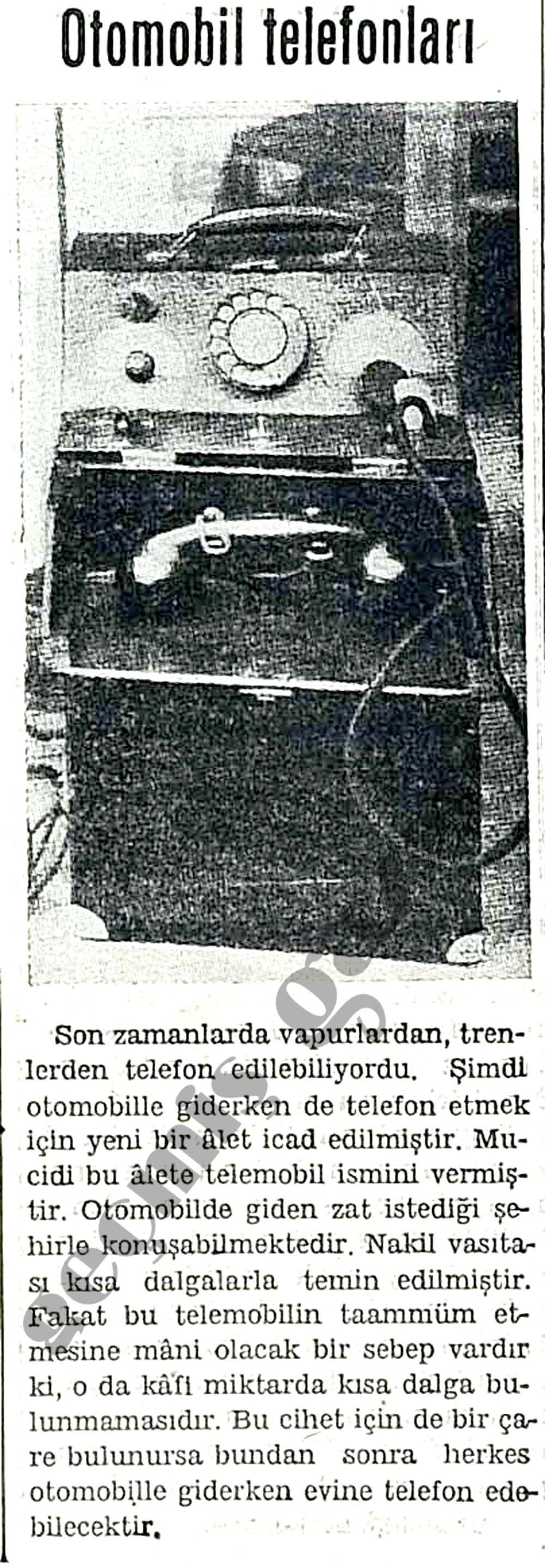 Otomobil telefonları