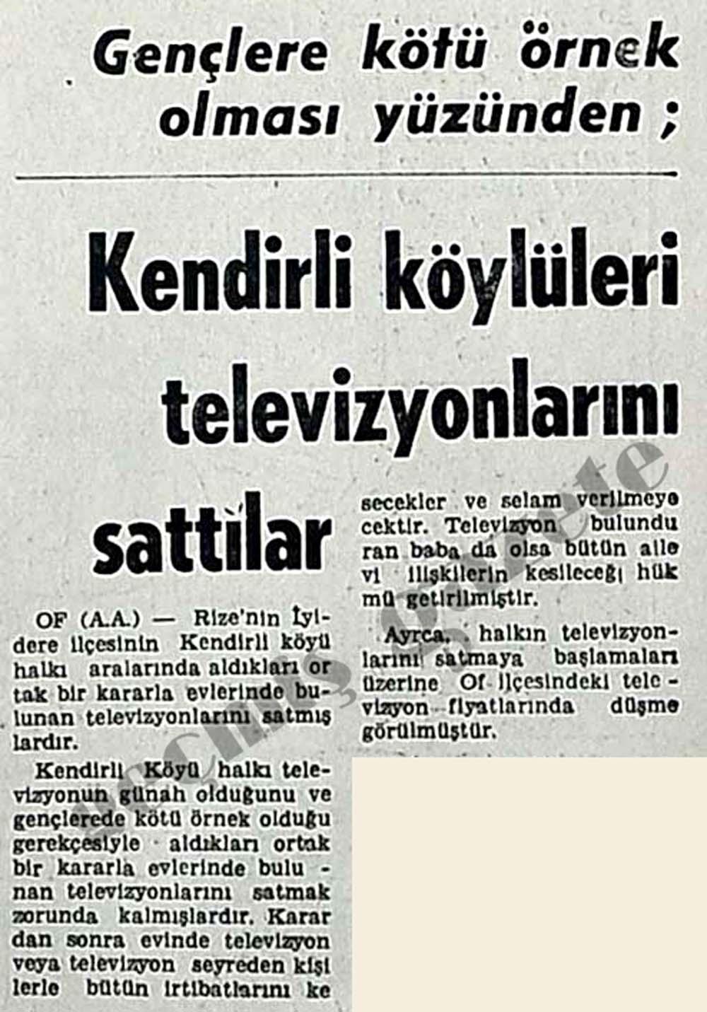 Gençlere kötü örnek olması yüzünden; Kendirli köylüleri televizyonlarını sattılar