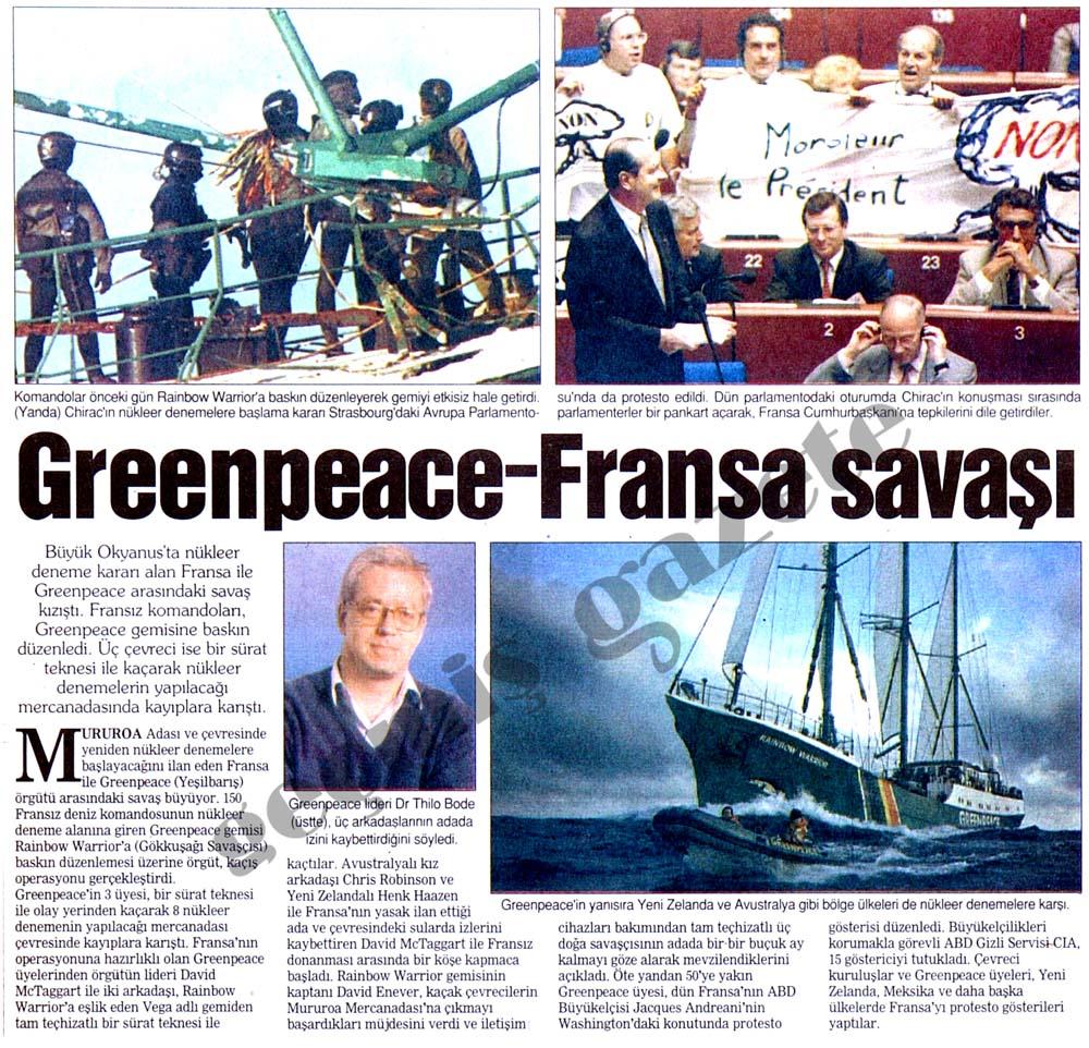 Greenpeace - Fransa savaşı