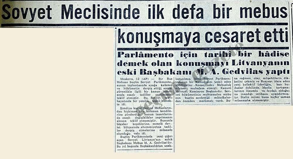 Sovyet Meclisinde ilk defa bir mebus konuşmaya cesaret etti