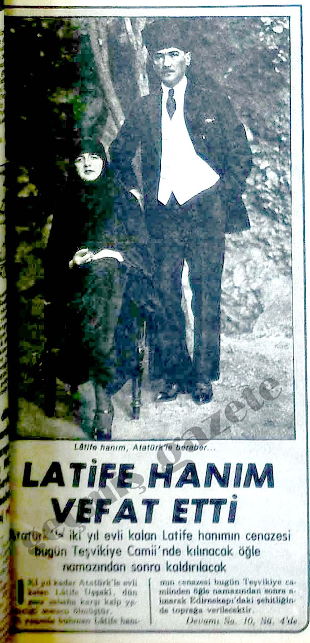Latife Hanım vefat etti