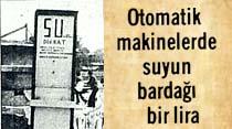 İstanbul'un çeşitli semtlerinde görülmeye başlanan otomatik su makineleri