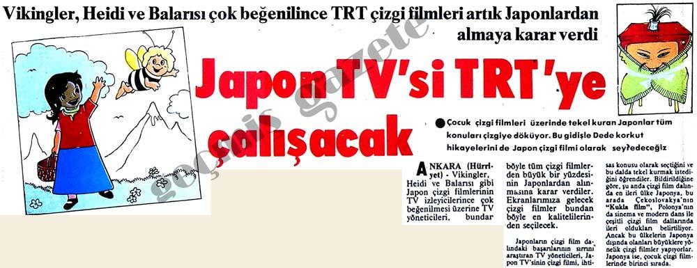 Japon TV'si TRT'ye çalışacak