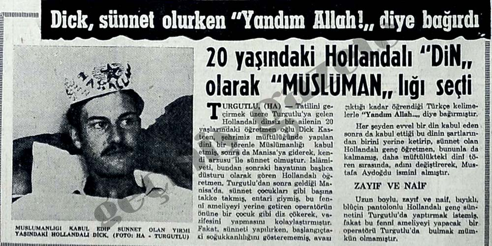 """Dick, sünnet olurken """"Yandım Allah!"""" diye bağırdı"""