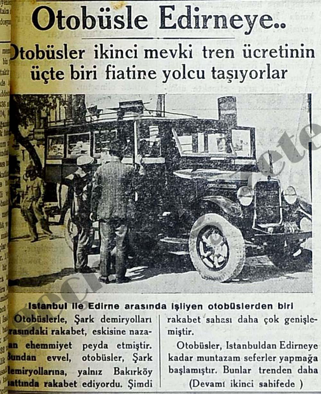 Otobüsle Edirneye..