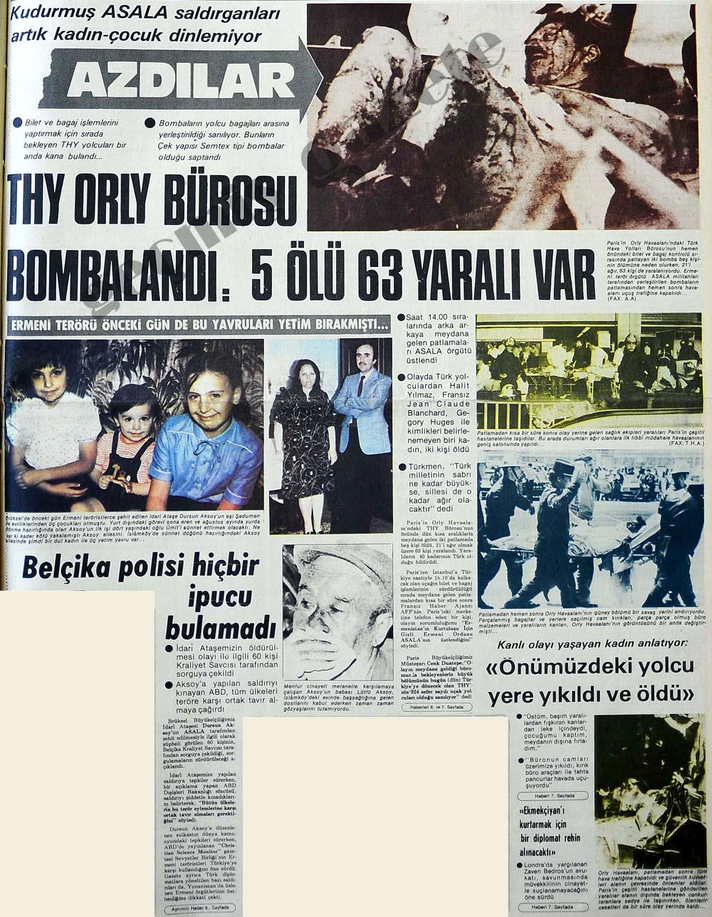 THY Orly Bürosu Bombalandı: 5 ölü 63 yaralı var