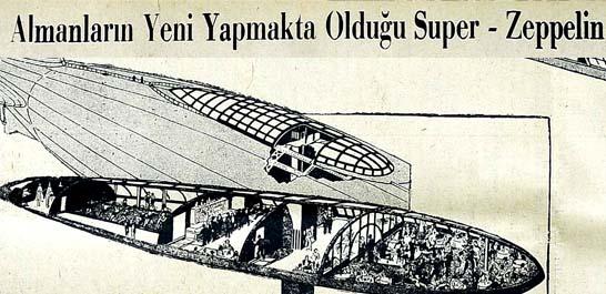 Almanların Yeni Yapmakta Olduğu Super - Zeppelin 166 Kişi Taşıyaçak!