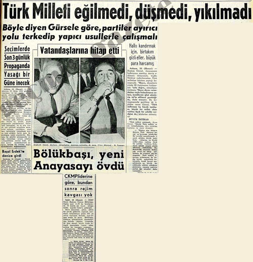 Türk Milleti eğilmedi, düşmedi, yıkılmadı