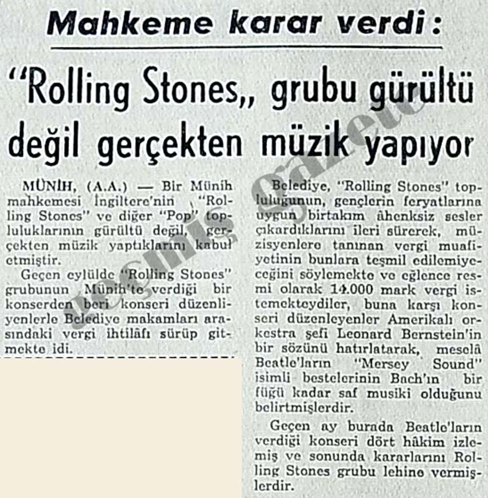 """""""Rolling Stones"""" grubu gürültü değil gerçekten müzik yapıyor"""