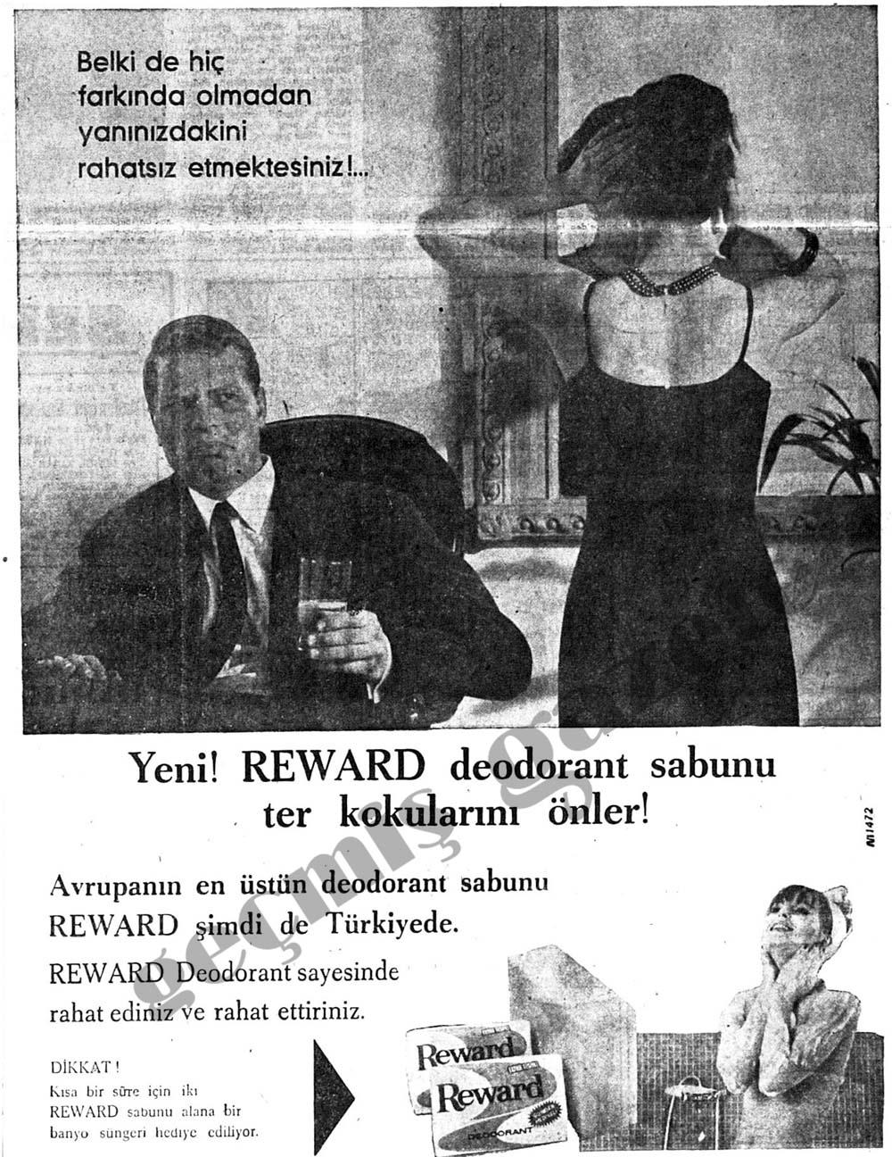 Yeni! Reward deodorant sabunu ter kokularını önler!