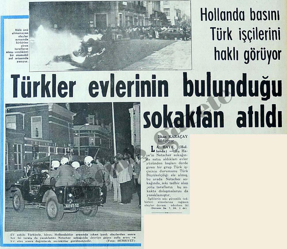 Türkler evlerinin bulunduğu sokaktan atıldı