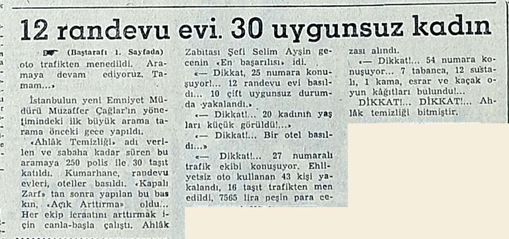 """İstanbul'da """"Ahlak Temizliği"""" Yapıldı"""