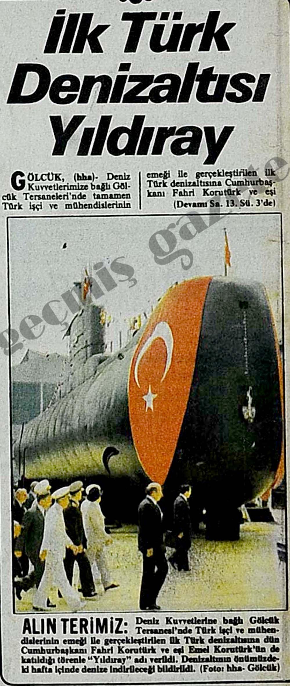 İlk Türk Denizaltısı Yıldıray