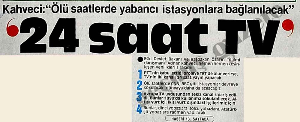 """Kahveci: """"Ölü saatlerde yabancı istasyonlara bağlanılacak"""""""