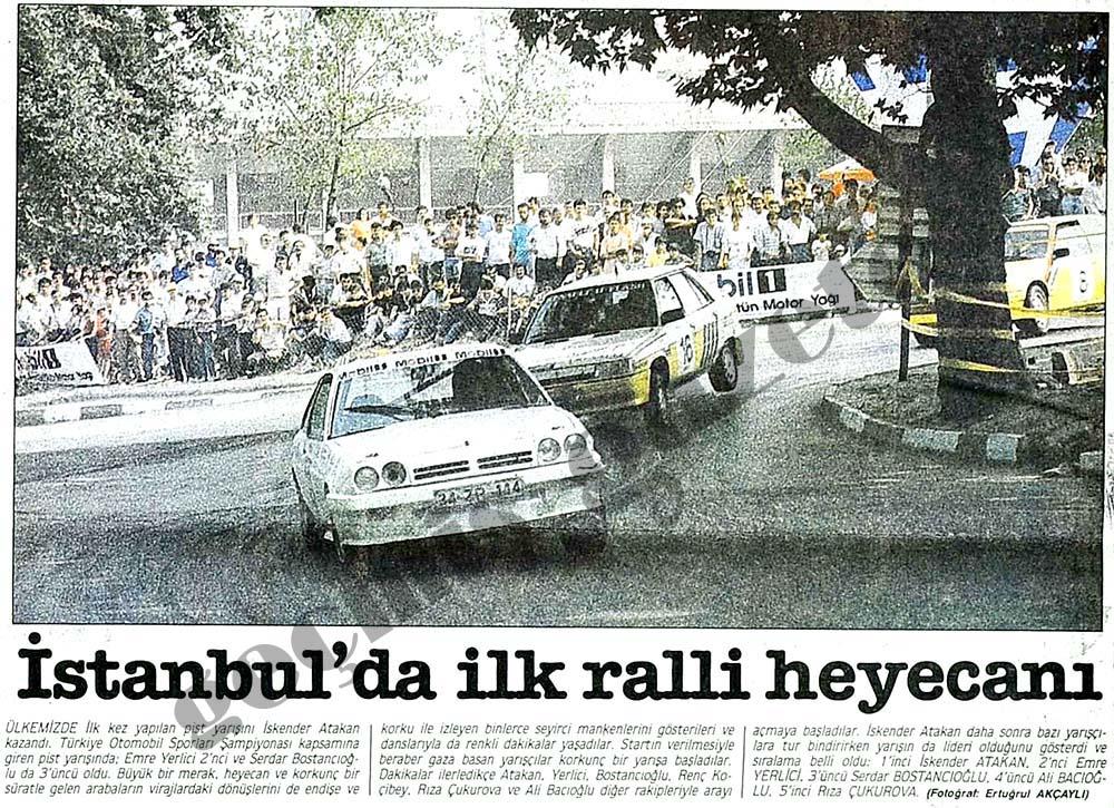 İstanbul'da ilk ralli heyecanı