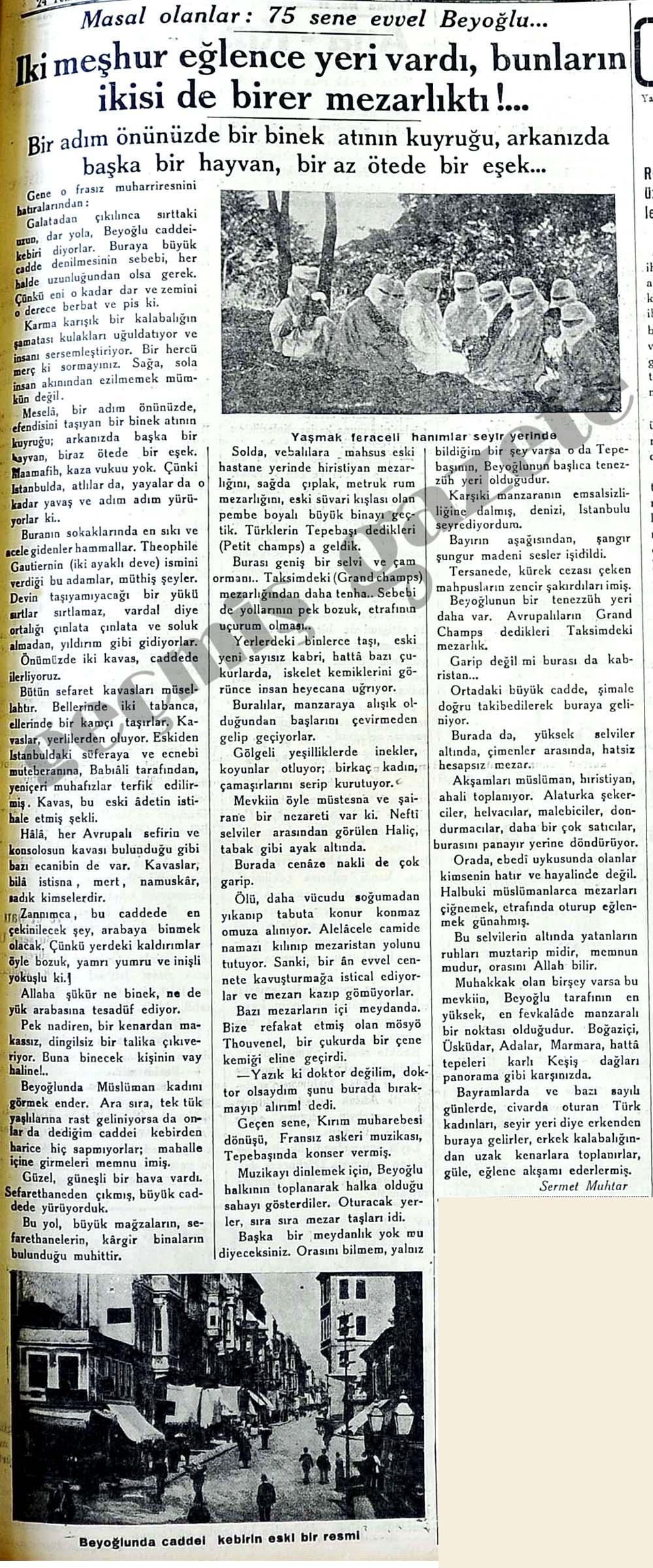 Masal olanlar: 75 sene evvel Beyoğlu...