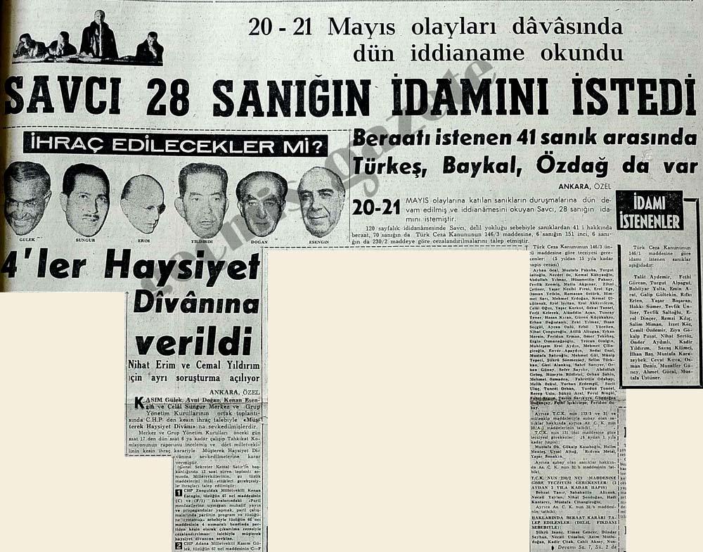 20-21 Mayıs olayları davasında dün iddaname okundu