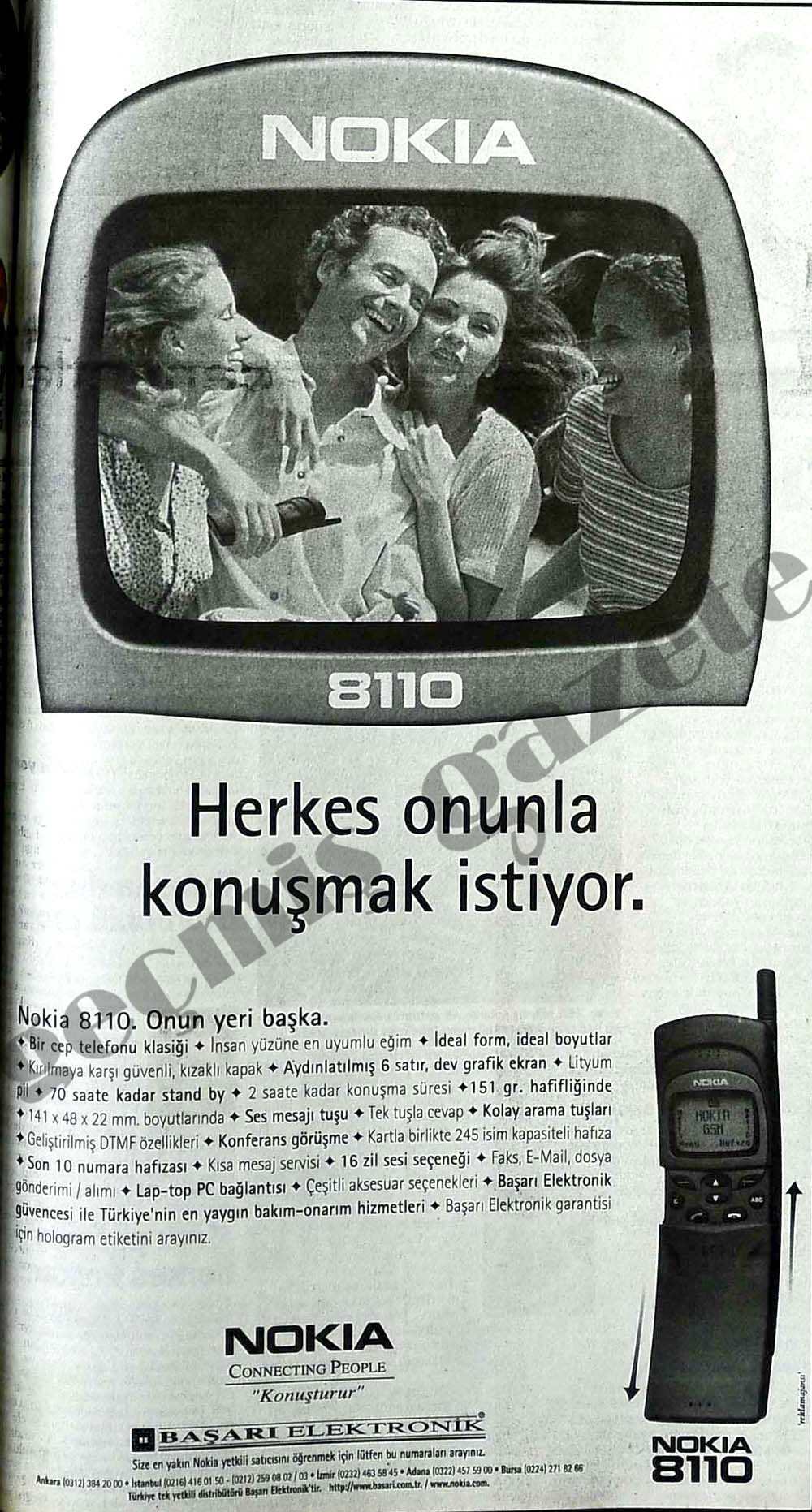 Nokia 8110 Herkes onunla konuşmak istiyor
