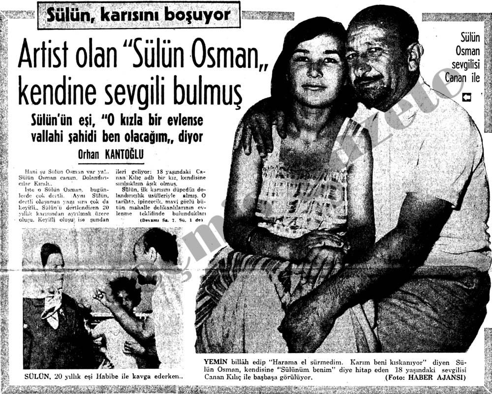 """Artist olan """"Sülün Osman"""" kendine sevgili bulmuş karısını boşuyor"""