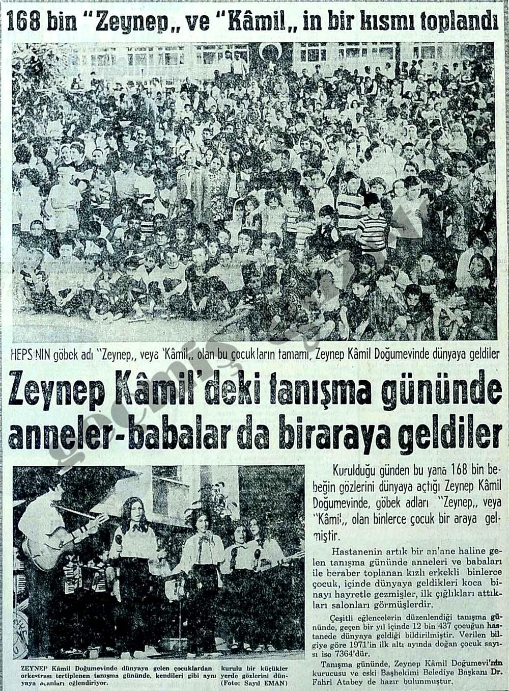 """168 bin """"Zeynep"""" ve """"Kamil""""in bir kısmı toplandı"""