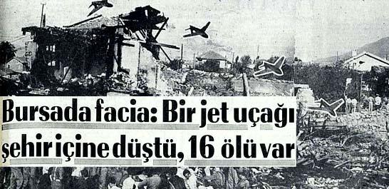 Jet uçağı şehir içine düştü