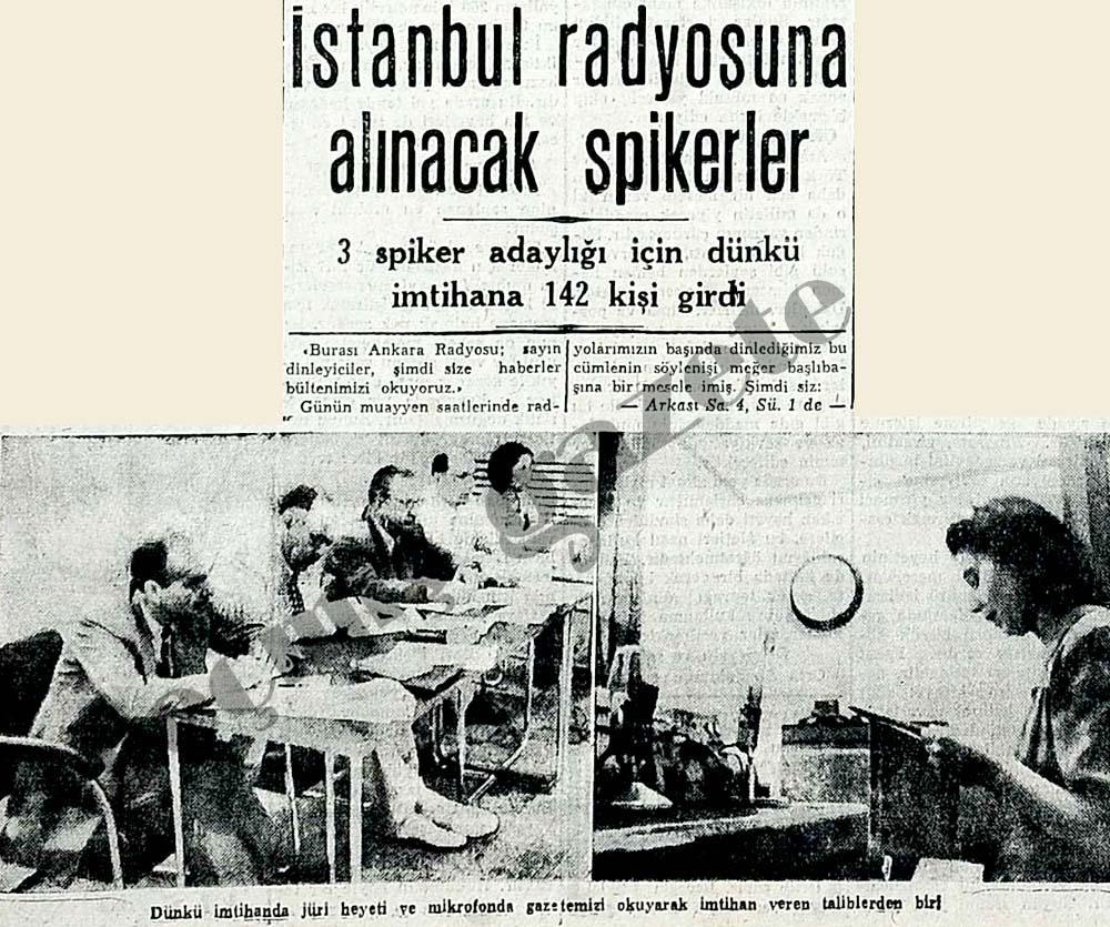 İstanbul radyosuna alınacak spikerler