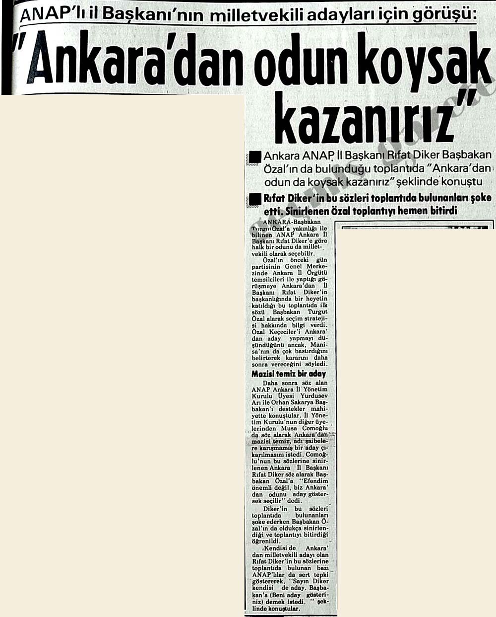 """""""Ankara'dan odun koysak kazanırız"""""""