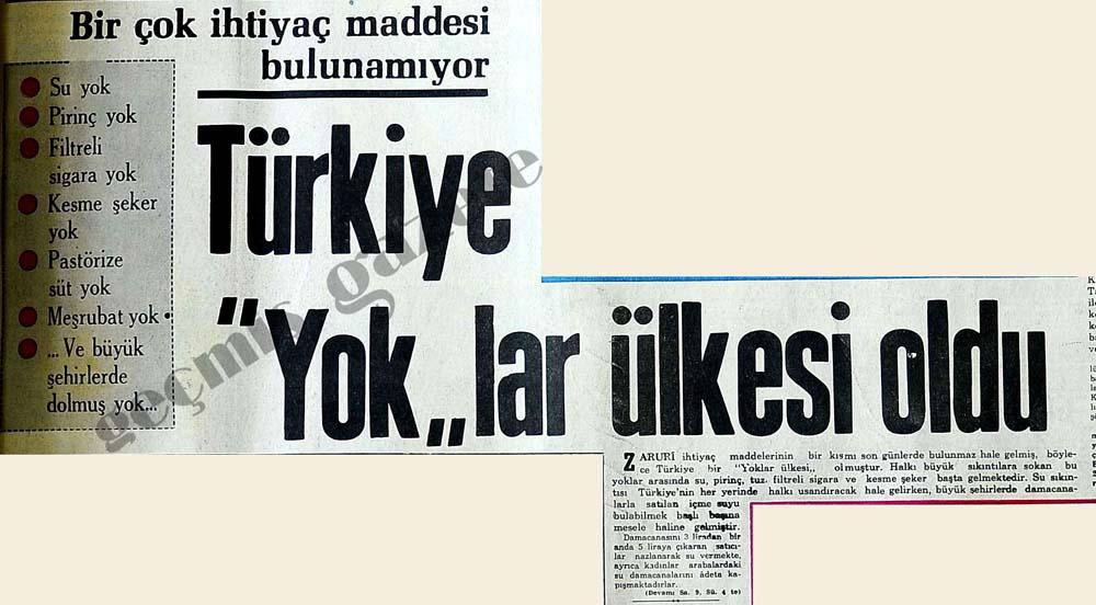 """Türkiye """"Yok""""lar ülkesi oldu"""