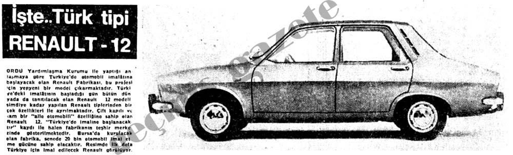 İşte..Türk tipi Renault-12