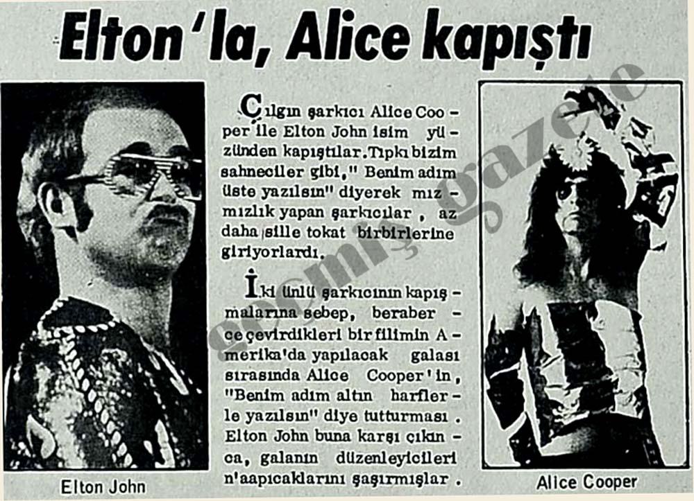 Elton'la, Alice kapıştı