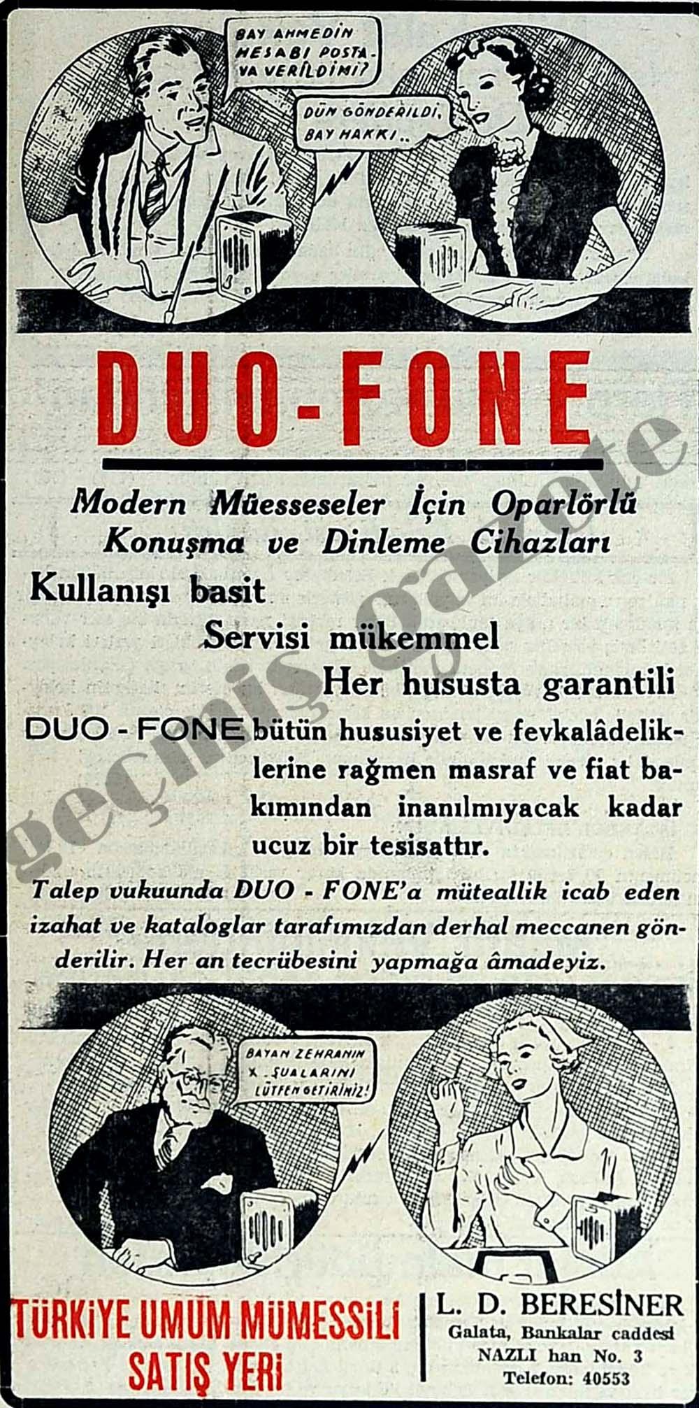 Duo-Fone Modern Müesseseler İçin Oparlörlü Konuşma ve Dinleme Cihazları