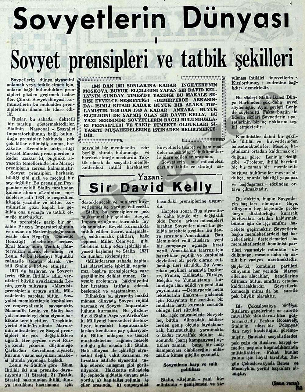 Sovyet prensipleri ve tatbik şekilleri