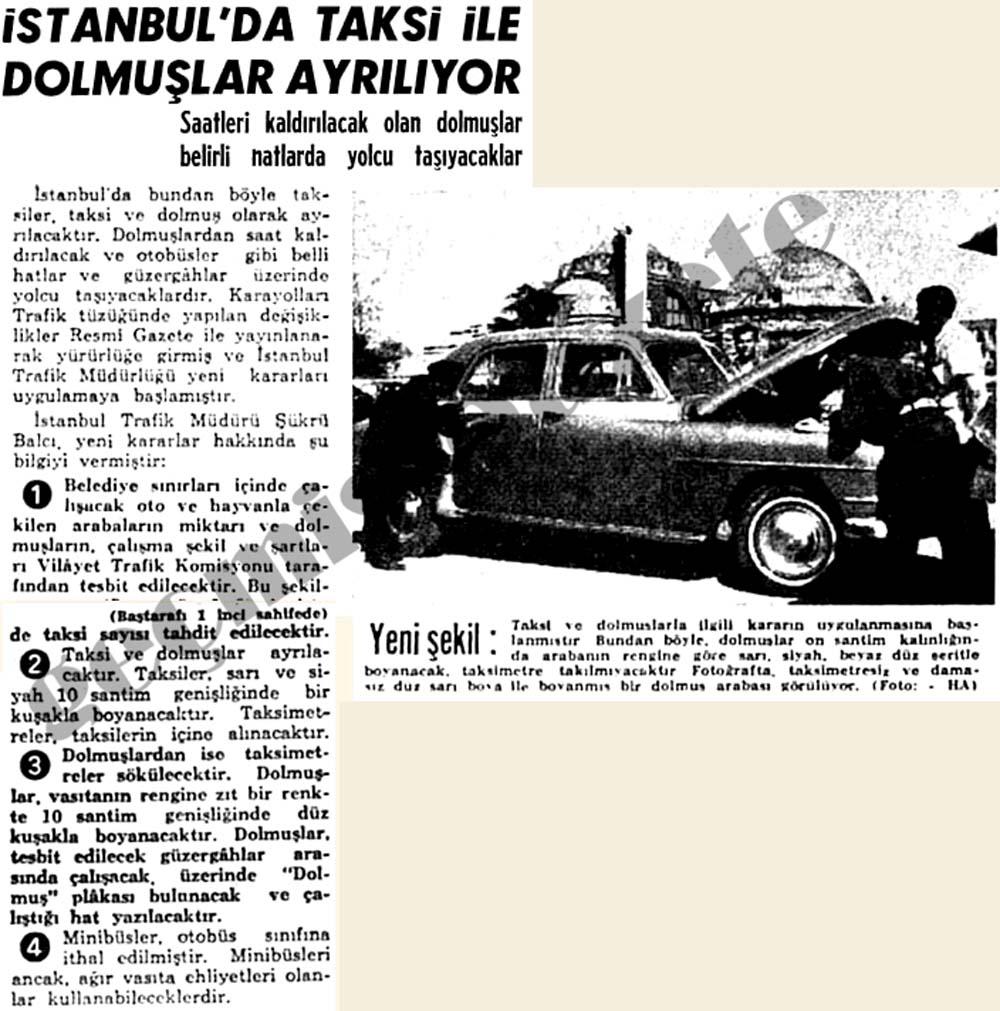 İstanbul'da taksi ile dolmuşlar ayrılıyor