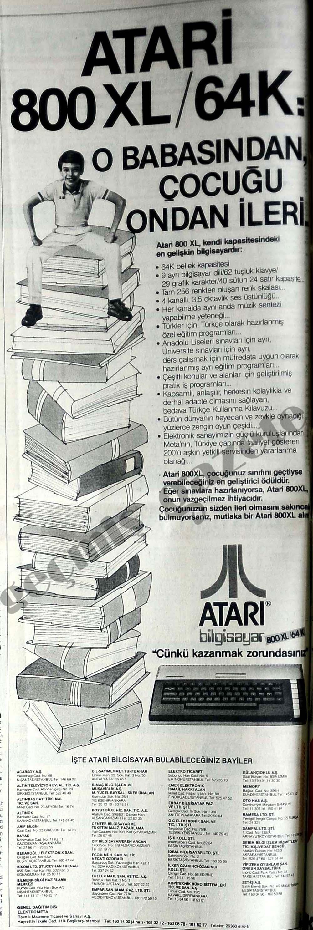 Atari 800XL/ 64 K: O babasından, çocuğu ondan ileri