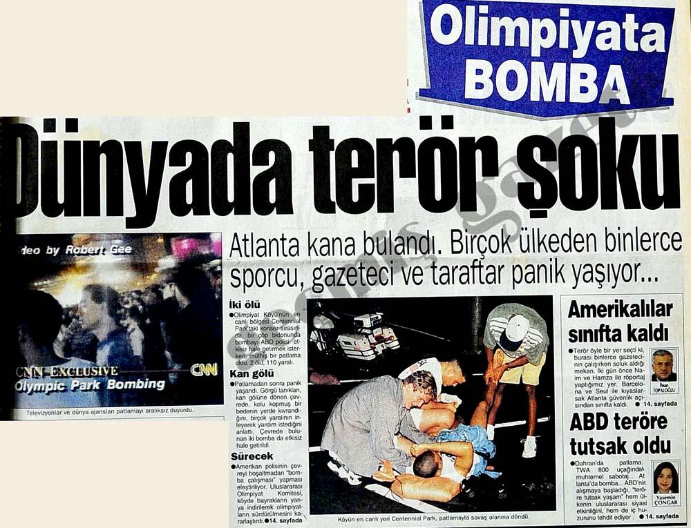 Dünyada terör şoku: Olimpiyata Bomba