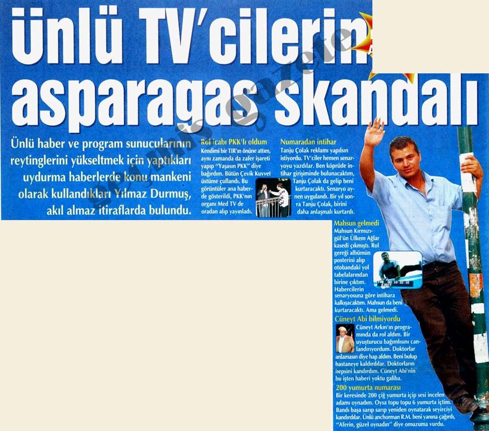 Ünlü TV'cilerin asparagas skandalı