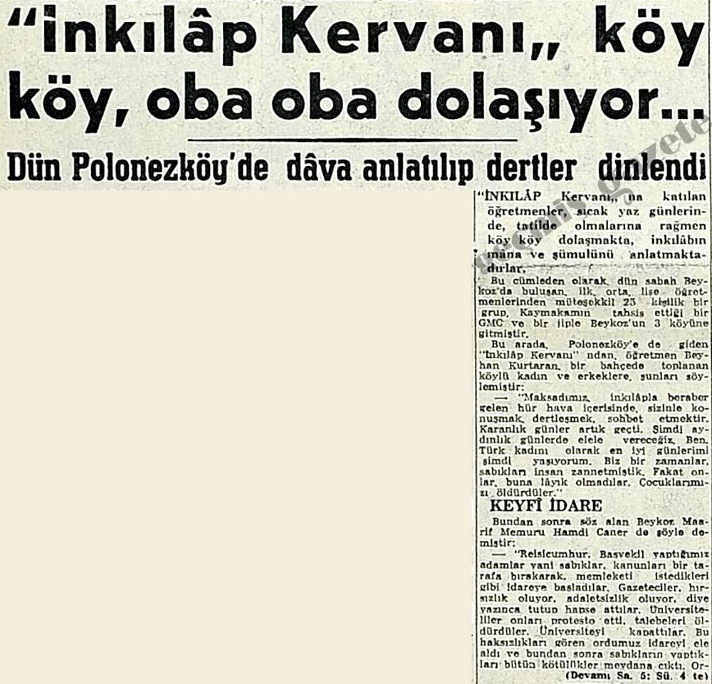 """""""İnkılap Kervanı"""" köy köy, oba oba dolaşıyor..."""