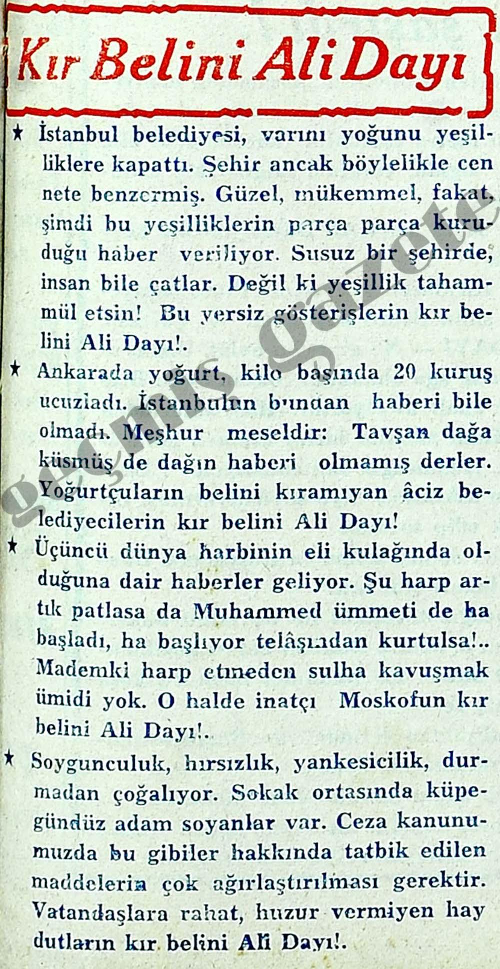 Kır Belini Ali Dayı