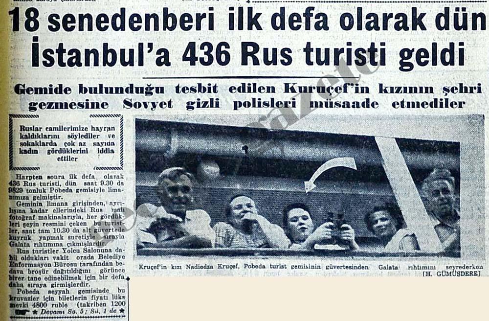 18 senedenberi ilk defa olarak dün İstanbul'a 436 Rus turisti geldi