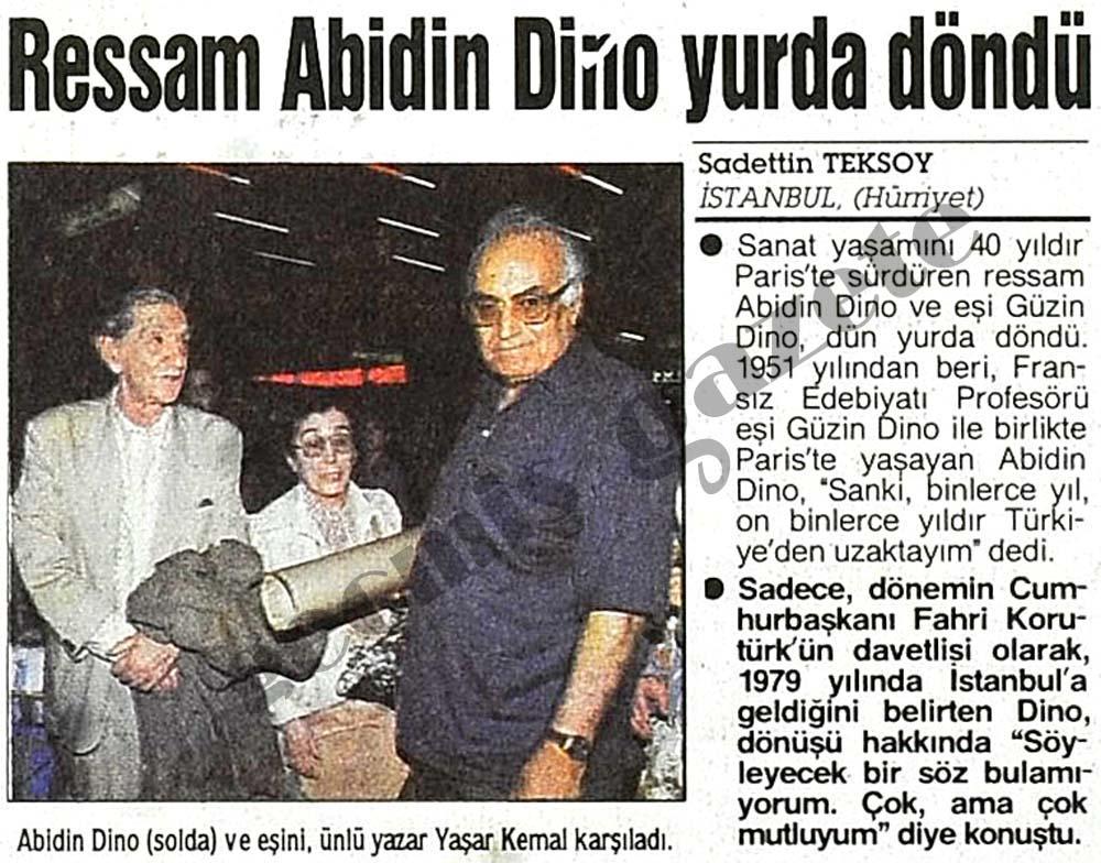 Ressam Abidin Dino yurda döndü