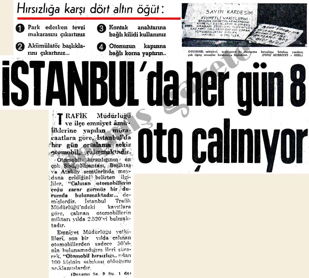 İstanbul'da her gün 8 oto çalınıyor