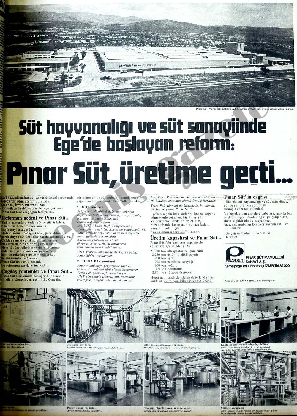 Pınar Süt, üretime geçti...