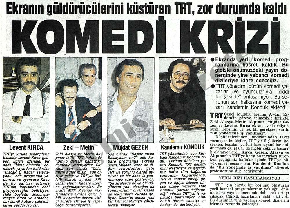 Ekranın güldürücülerini küstüren TRT, zor durumda kaldı