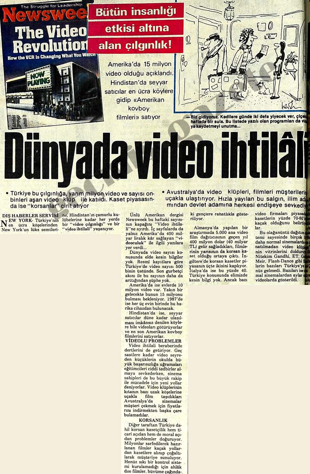 Dünyada video ihtilali