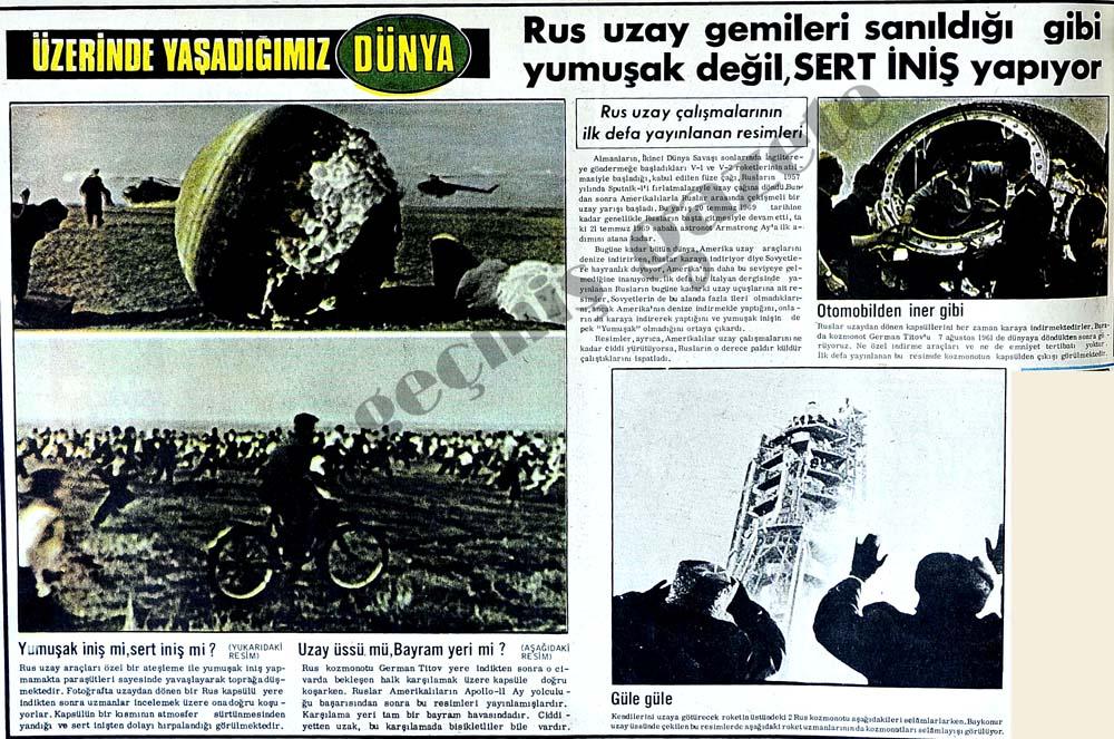 Rus uzay çalışmalarının ilk defa yayınlanan resimleri